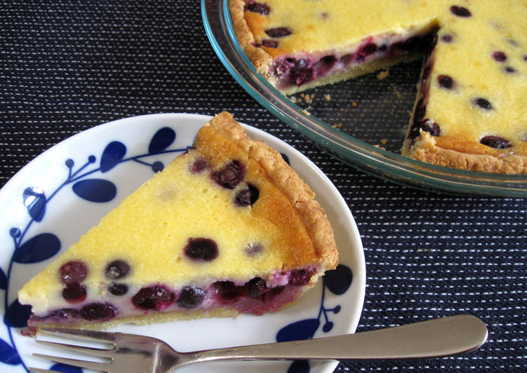 blueberry sour cream pie recipe main photo