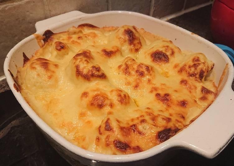 cauliflower and mustard cheese recipe main photo