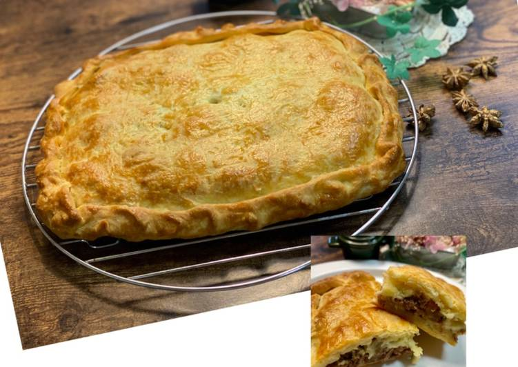 cheese teriyaki beef pie recipe main photo 1