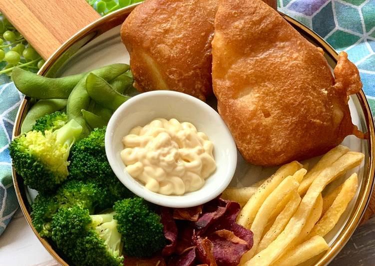 crispy fish and chips using soda water recipe main photo