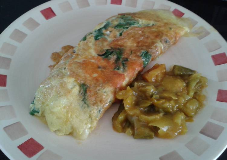 garden spinach omelette recipe main photo