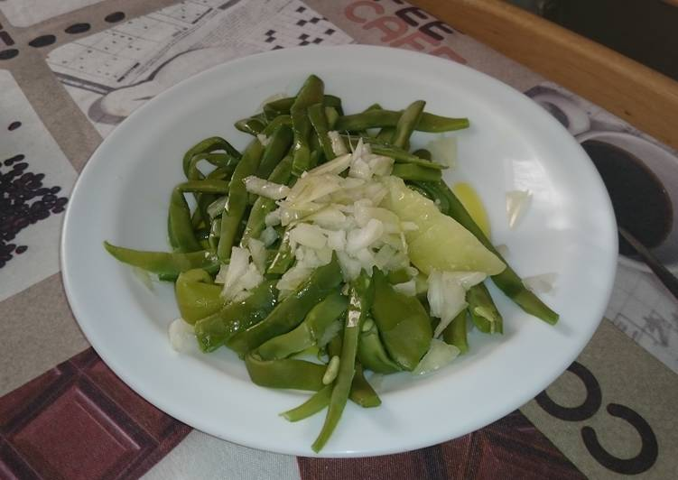 hot green bean salad recipe main photo
