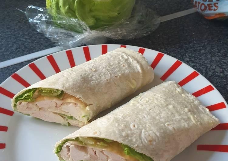 lazy roast chicken wrap recipe main photo