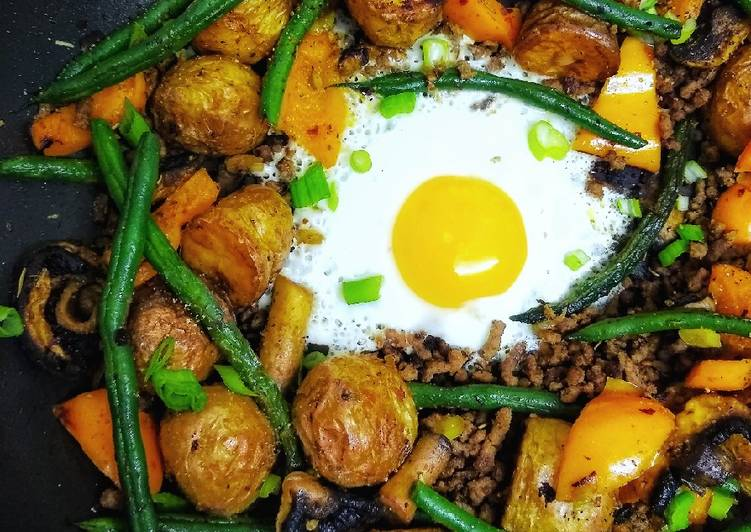 left over roast potato piri piri beef hash recipe main photo 2