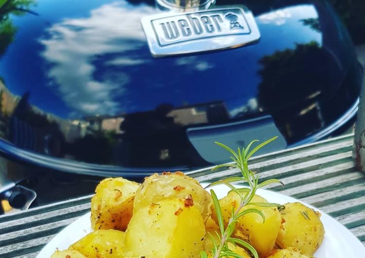 lemon and herb bbq roast potatoes🍋 recipe main photo