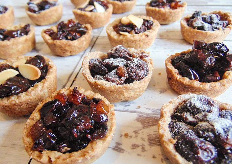 mini sour cherry mince pies recipe main photo