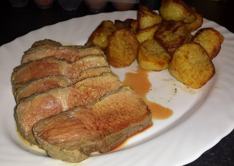 mustard roast beef recipe main photo