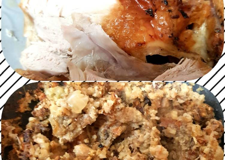 My Chicken And Tasty Stuffing. 😁