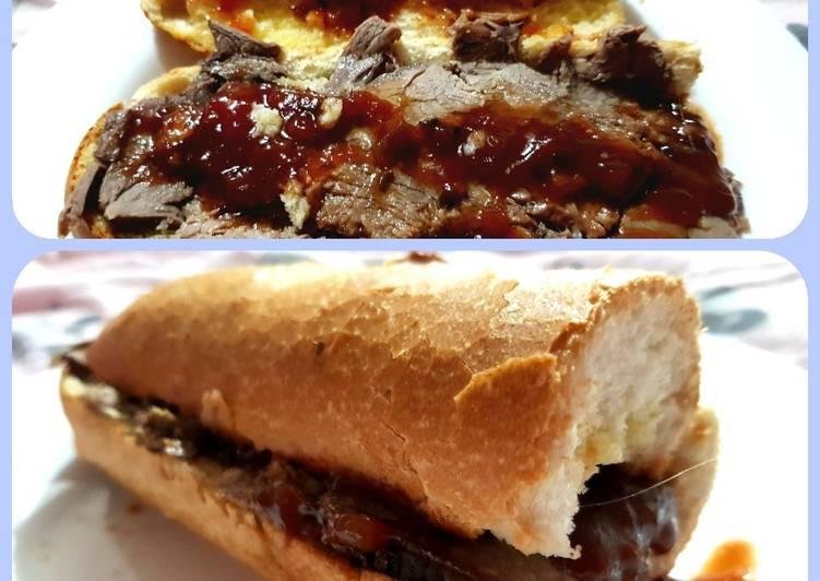 my garlic roast beef baguette😘 recipe main photo 2