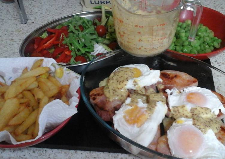 my poached egg and seared gammon with homemade hollandaise sauce 😉😀 recipe main photo