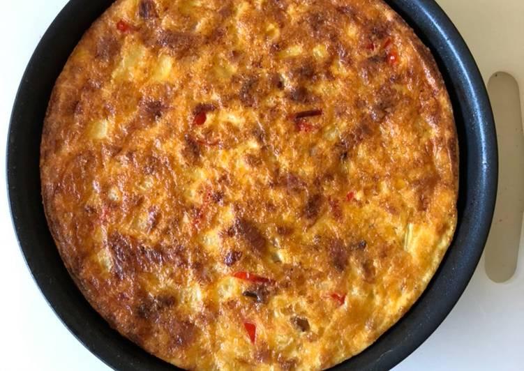 oven baked onion etc frittata recipe main photo