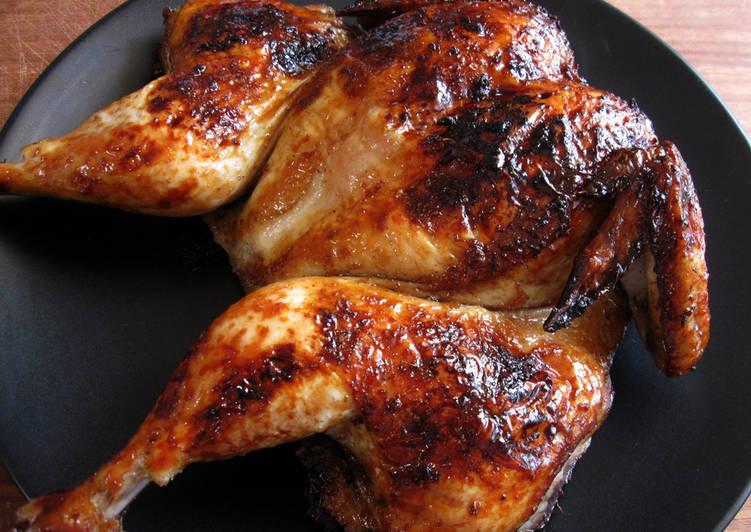 peking inspired roast chicken recipe main photo