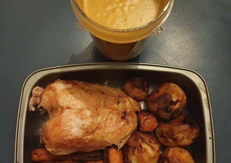 roast chicken dinner with gravy recipe main photo 2