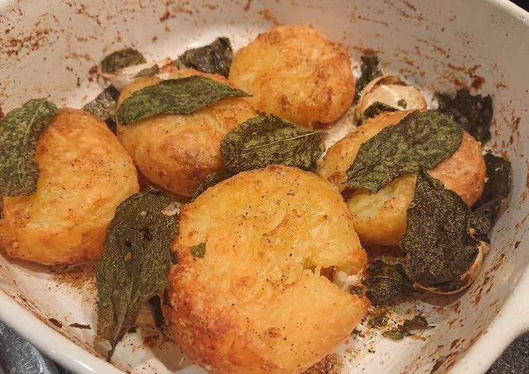 sage roasted potatoes recipe main photo
