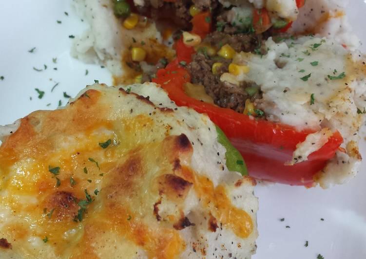 shepherds pie stuffed peppers recipe main photo