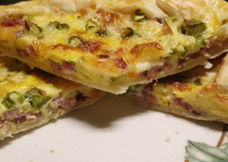 speck brie and asparagus pie recipe main photo