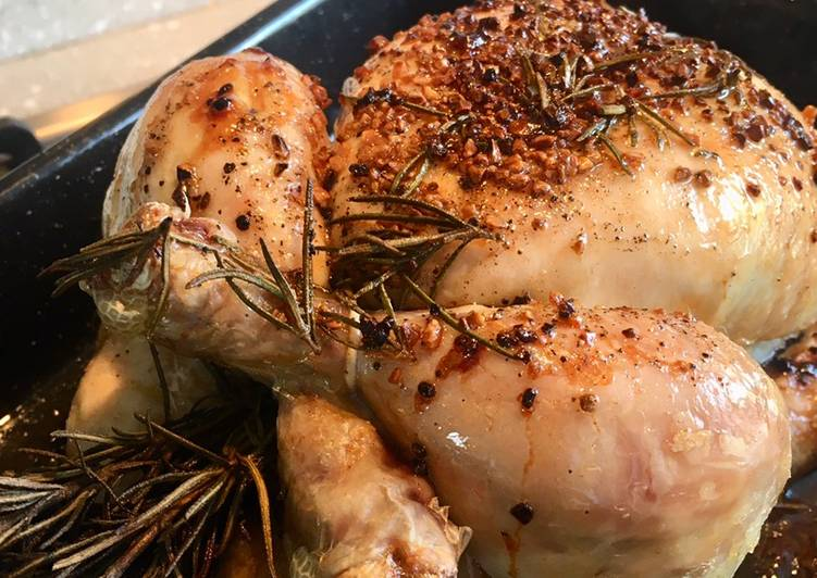 super tasty rosemary and garlic roast chicken recipe main photo