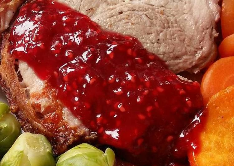 vickys roast with raspberry sauce gf df ef sf nf recipe main photo