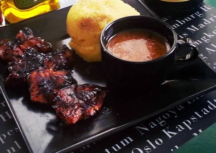 vinegar marinated grilled chicken in english bahasa recipe main photo