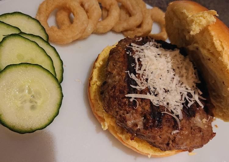 wasabi and mustard beef burger recipe main photo 1