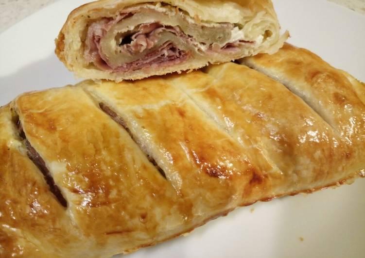zucchine and prosciutto pastry pie recipe main photo